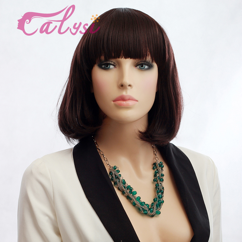 short ombre bob wig synthetic heat resistant BOB wigs hair with short bob wig periwig for female women B0031-02(China (Mainland))