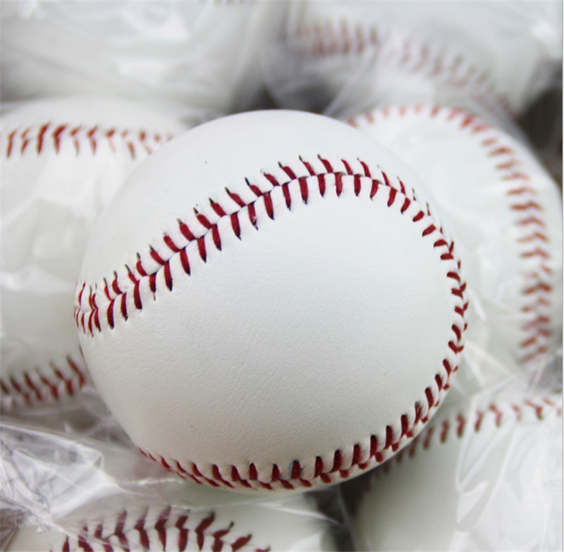 Free Shipping 1 Piece New White Base Ball Baseball Practice Trainning Softball Sport Team Game(China (Mainland))