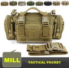 Quality mens tactical bag military molle bag small combat waist bag shoulder messenger bag for hunting camping free shipping(China (Mainland))