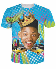 Alisister Summer Style So Fresh Will Smith T-Shirt Sexy tee Fresh Prince of Bel Air 3d t shirt Sport tshirt for women men tops(China (Mainland))