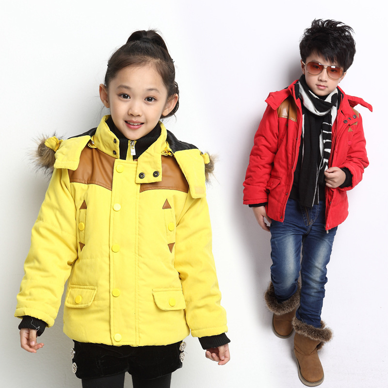 2015 Children's Clothing Outerwear Brand Boys Girls Coat Hooded Warm Thick Winter Parkas Kids Outwear