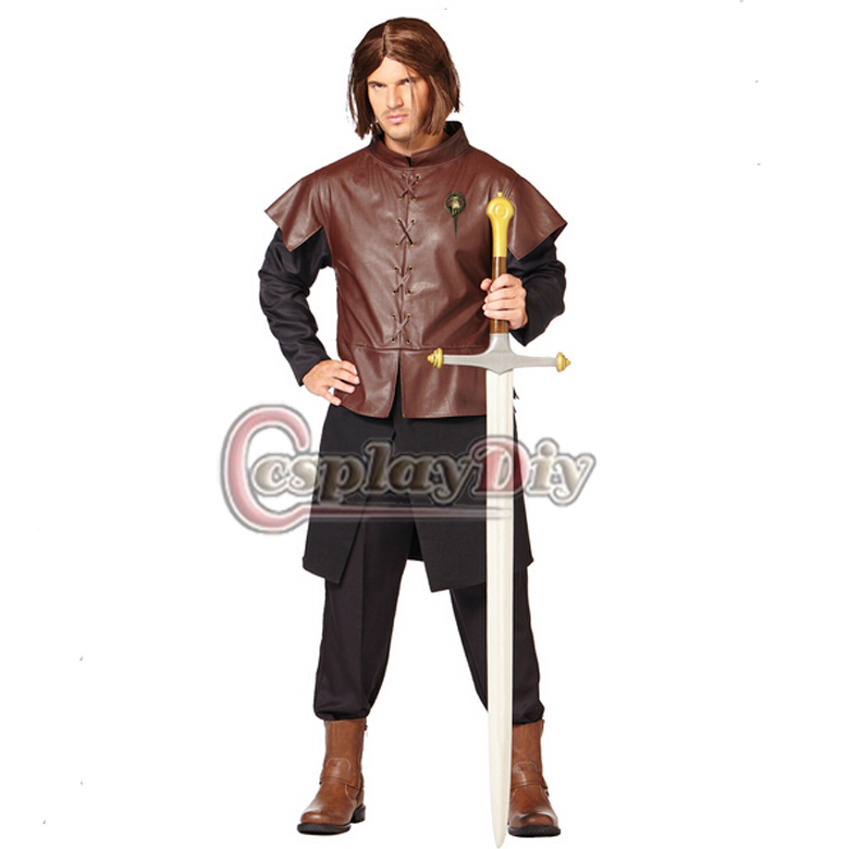 Custom Made Game of Thrones Ned Stark Adult Mens Medieval Costume Outfit Halloween Cosplay Costume