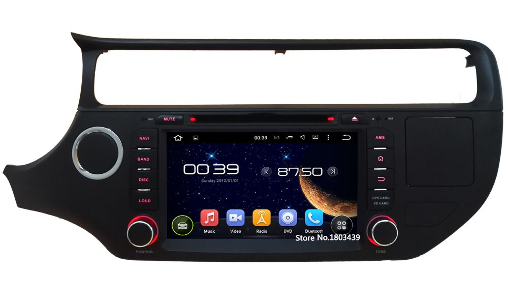"Quad Core 8"" 1024*600 2DIN Android 5.1.1 Car Multimedia DVD Player Radio BT FM DAB+ 3G/4G WIFI GPS Map For KIA K3 RIO 2015 2016"