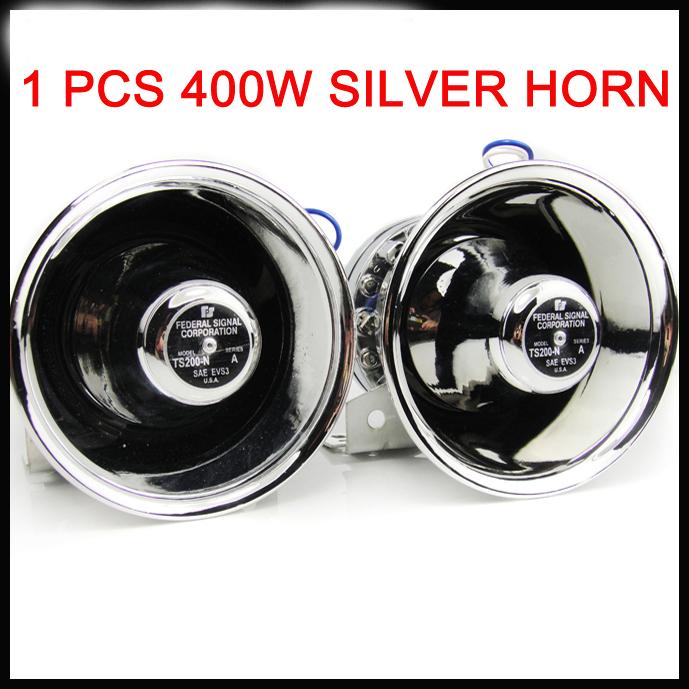 Stainless steel  Car loud speaker siren horn  Silver 400W siren sound Police car sounds truck lound<br><br>Aliexpress