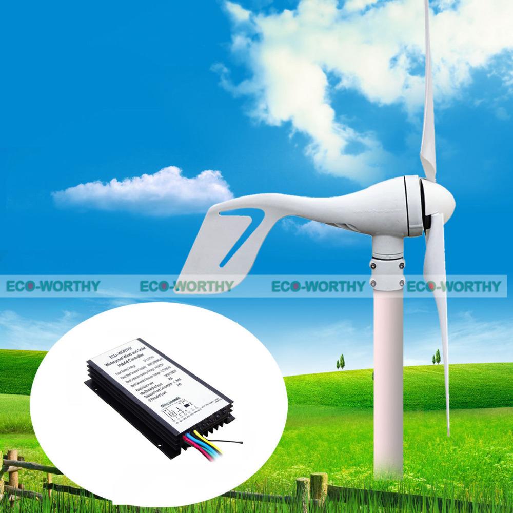 Wind Turbine Blade 3 Aerogenerator 24v Windmill Generator Small Wind Power Generator 12v Wind Turbina Generator with Controller(China (Mainland))