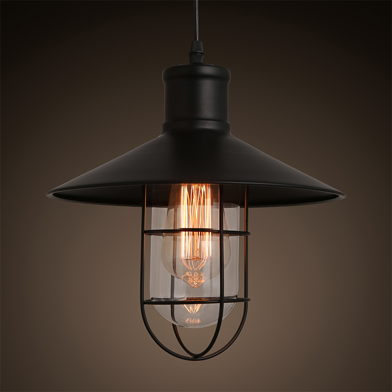 KC lamp loft retro iron bar light industrial small cage bar Coffee store warehouse cage pendant lamp<br><br>Aliexpress