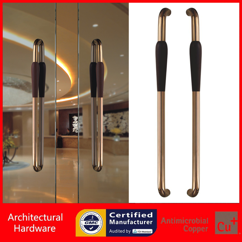 DSM Glass Door Rose Gold Walnut Wood+304 Stainless Steel Pull Handle PA-233-46*800mm<br><br>Aliexpress