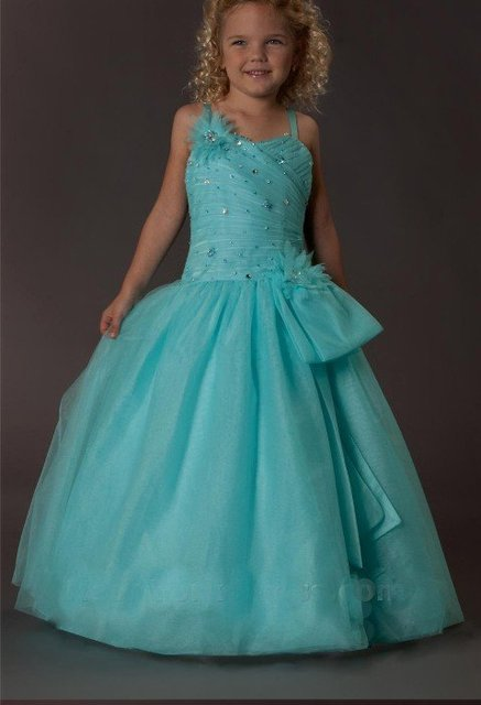 Free shipping Hot Sale Handmade Flower Flower Girl Dress girl's dresses Custom-size wholesale / retail