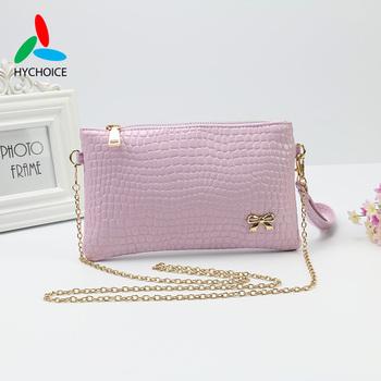 2015 New Fashion Women Pu Leather Handbag Casual Day Clutch Zipper Shoulder Bag Alligator Ladies Bag Inexpensive Hand Bag