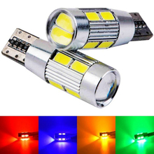 T10 10 SMD 5630 LED with Projector Lens Car Parking Lights W5W 194 AUTO Clearance light reading dome Lamp Canbus Error Free(China (Mainland))