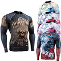boxing Skin Tights all body printing long Sleeve Jerseys Clothing MMA Crossfit GYM Weight Lifting Running