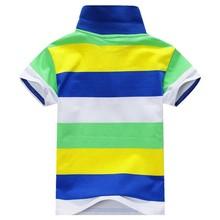 new 2015 spring fashion Retail Kid Boys Stripe Shirt Cotton Blouset for baby boy tops blouse