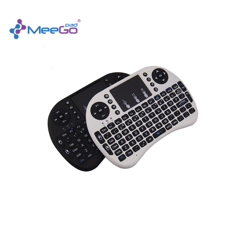2.4G Mini Wireless Touchpad Keyboard Russian Or English Version QWERTY Keyboard For Meegopad T02 Mini PC Notebook Tv Box(China (Mainland))