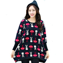 New Cute Cartoon Rabbit T-shirts For Pregnant Women Long Sleeve Coat Pregnancy Shirt Cotton Cashmere Large Size Women's Clothing(China (Mainland))