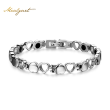 Buy Meaeguet Healthy Magnetic Bracelet Men/Woman Heart Design 316L Stainless Steel Health Care Elements Bracelet Hand Chain Jewelry for $6.99 in AliExpress store