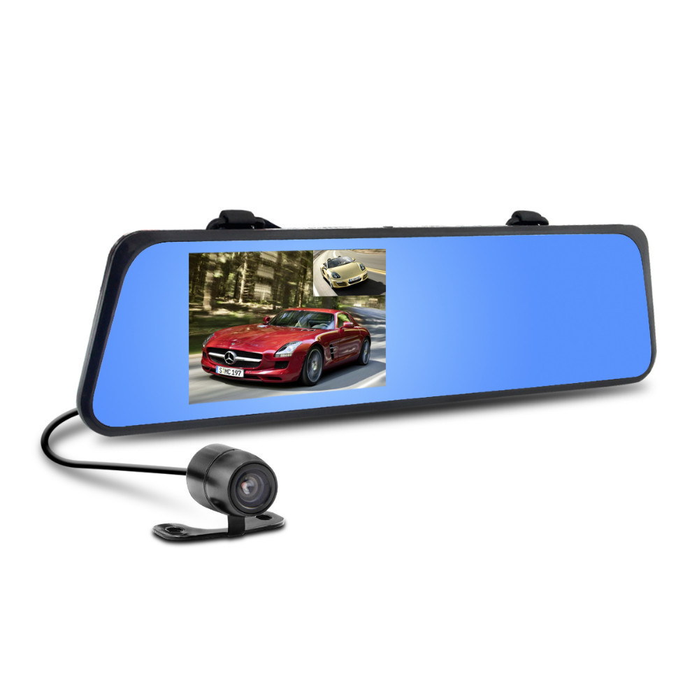 6000C Car Rearview Mirror Camera Video Recorder Car DVR Dual lens Full HD 1080P Camcorder Dash Cam G-Senor Night Vision(China (Mainland))