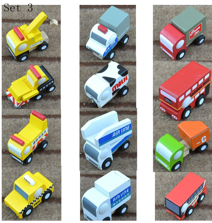 New Arrival 12 Models/Lot Children Education Wooden Mini Cars Wood Car Japan Export High Quality Separate package(China (Mainland))