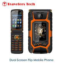 Hot Sale Dual Screen Flip Phone Rover X9 3.5 Inch Touch Screen Dual SIM Card Big Battery FM Radio Russian Keyboard One-key Dial(China (Mainland))