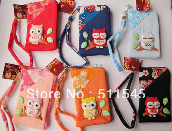 Cheap Retail Red Cartoon Owl Bag Case Pouch For MP4,MP5, Cell Phone free shipping