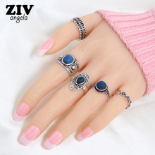 Buy 5PCS Bohemian Vintage Rings Set Women Ethnic Punk Antique Gold/Silver Plated Rings Fashion Jewelry Retro Ring Party for $1.34 in AliExpress store