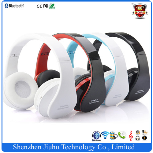 High quality ! Noice Cancelling Foldable Wireless Bluetooth Stereo Headset Handsfree Headphones Earphone Mic for iPhone iPad PC(China (Mainland))