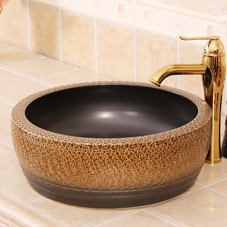 Europe Vintage Style Ceramic Art Basin Sink Counter Top ...