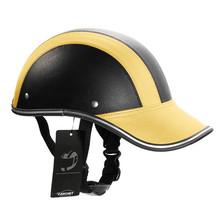 Motorcycle Helmet Baseball Cap Style Plaid Half Open Face Shorty Helmet Safety Hard Hat Anti-UV Helmets cascos para moto 6 Color(China (Mainland))