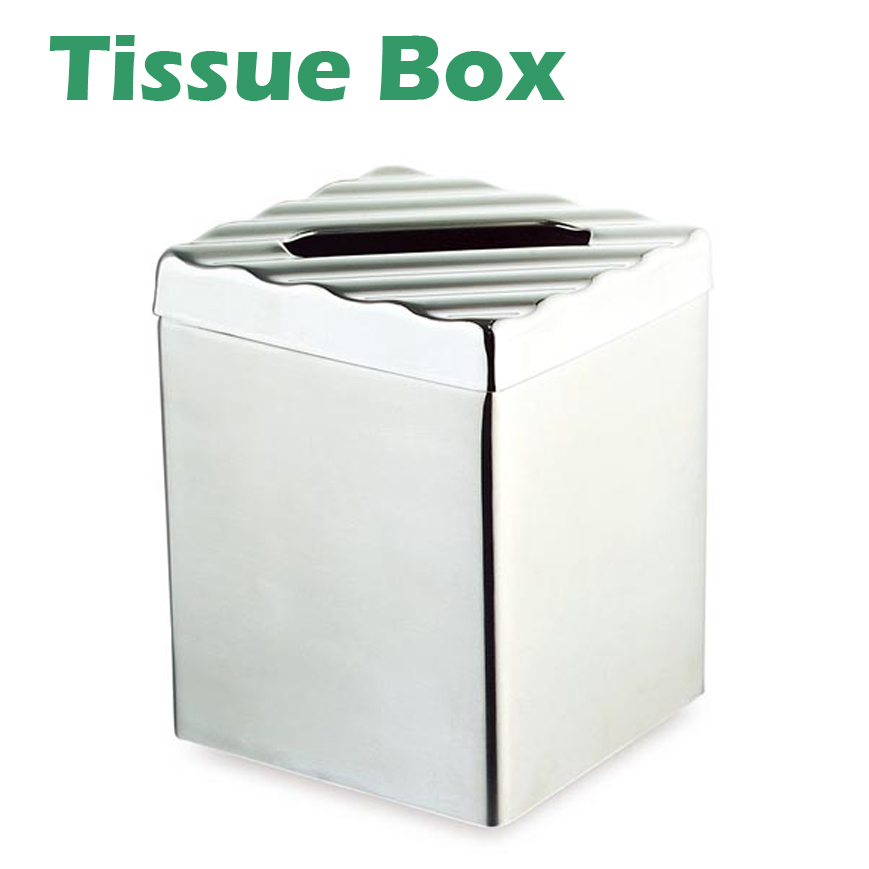 unique tissue box 18/10 stainless steel tissue canister waveform series bath products free shipping(China (Mainland))