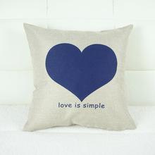 Blue Heart Decorative Throw Pillows