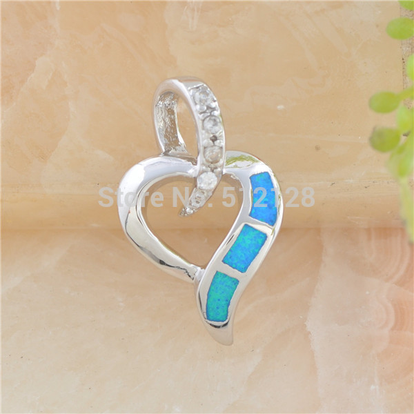 2015 Hot sale Wonderful Blue/White Fire Opal CZ Gemstone Love Forever 925 Sterling Silver Pendant pp12/13(China (Mainland))