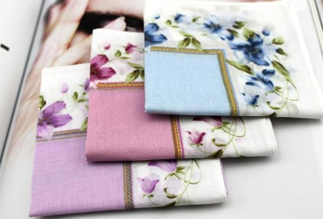 Peony 100% cotton handkerchief 100% cotton handkerchief women's fogle