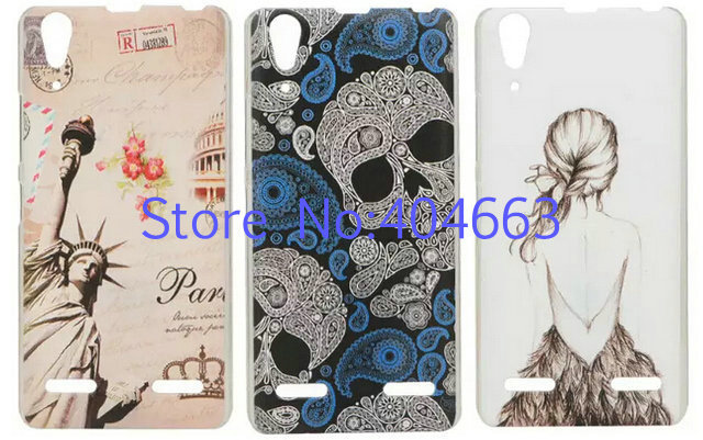 Free Shipping New Lovely Funny Cute Cartoon Colorful Pattern Hard Plastic Skin Back Cover For Lenovo K3 K30-T A6000 Case YJ01(China (Mainland))