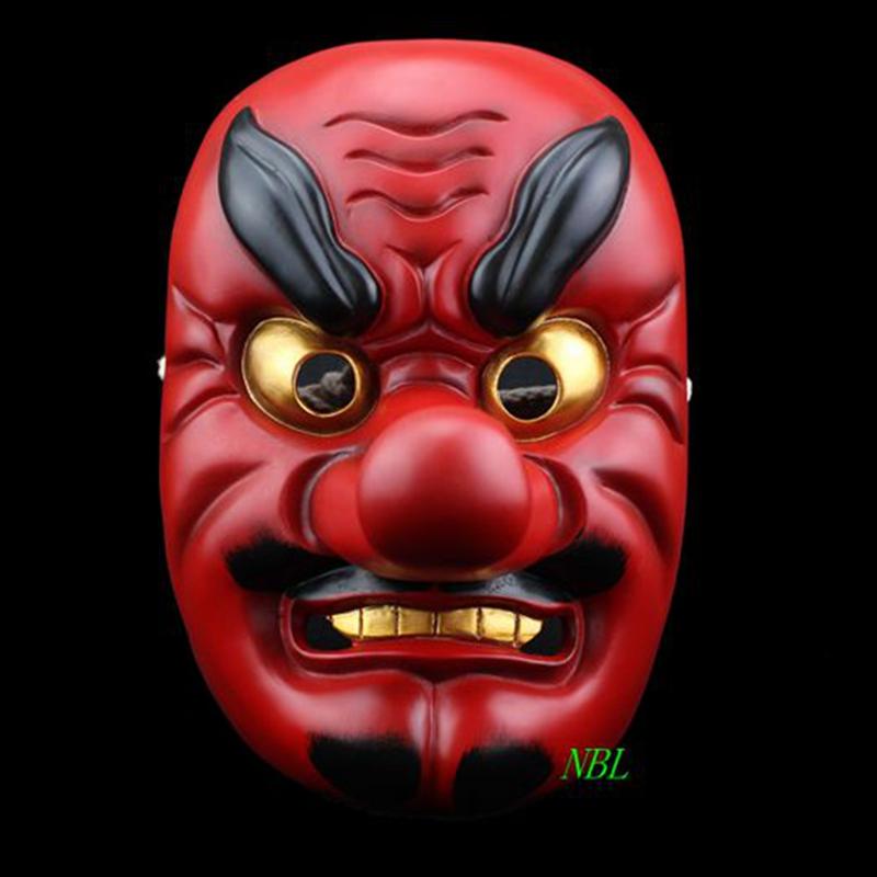 Horror Red Tengu Long Nose Mask Halloween Japanese Tokyo Ghoul Buddhism Noh Dog Grisly Drama Samurai Party Props Resin Masks(China (Mainland))