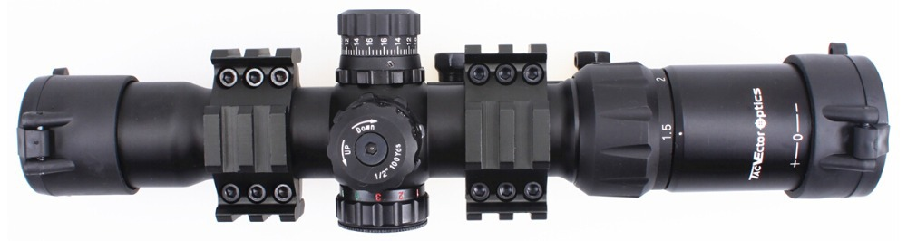 Vector Optics Mustang 1 5 4x30 Compact Shooting Riflescope Illuminated Chevron Red Dot Sight Free Mount