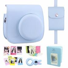 New Arrival 7 in 1 Fujifilm Instax Mini 8 Camera Accessories Bundle( Blue Instax Mini 8 Case/ Photo Case/3 L Model Frame…)