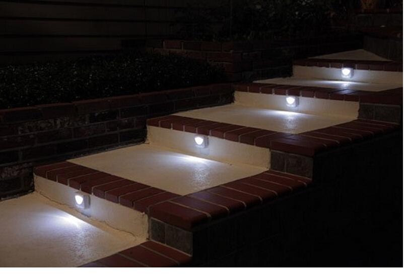 Luces exterior comedor exterior madera suelo jardinera for Luces led para exterior
