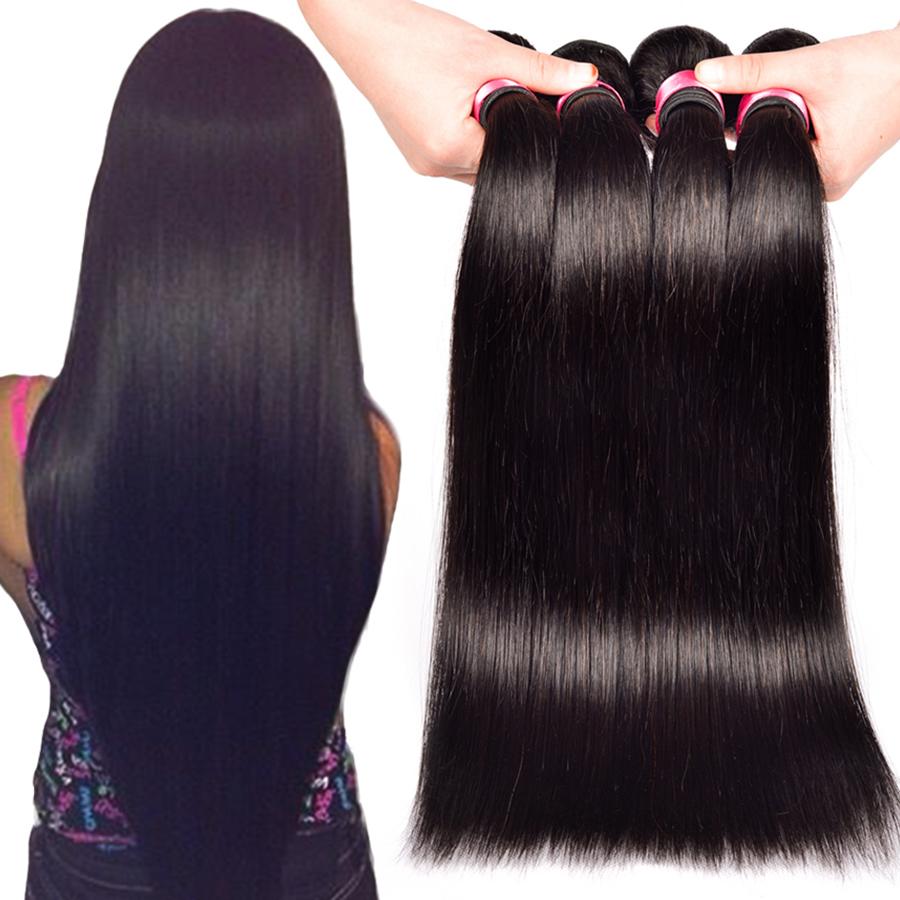 Queen Hair brazilian straight hair 3 pcs lot,Brazilian human hair extensions,free shipping,100% Human hair weave