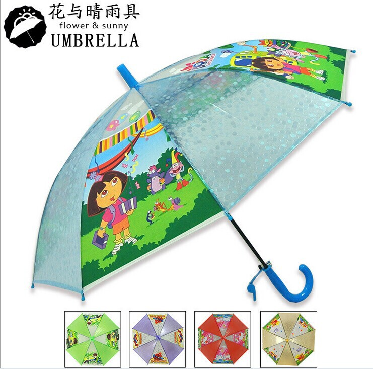 FREE Shipping by FEDEX 30pcs/lot 2014 New Cartoon Folding Umbrella Kids Dora/Spiderman/Hello Kitty/Princess Umbrella(China (Mainland))