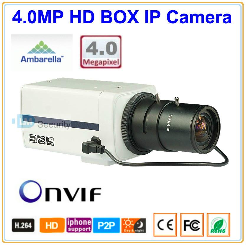 Ambarella 4MP IP Camera Box Type Can install Optional 4/6/8/12mm Fixed Lens or 2.8-12mm Varifocal 3.0MP CS Lens, Flexible Camera(China (Mainland))