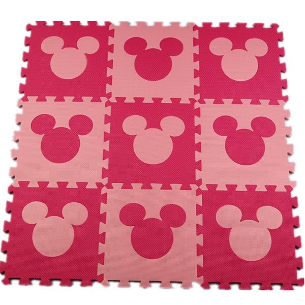 Meiqiku Lovely EVA Puzzle Carpet Baby Play Mat Floor Puzzle Mat Children Foam Carpet Mosaic floor mickey(China (Mainland))