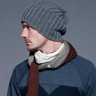 8 Colors! New 2014 Knitted Gorro Touca Men Winter Hat Autumn Sport Beanie Men Warm skullies Casual Cap(China (Mainland))