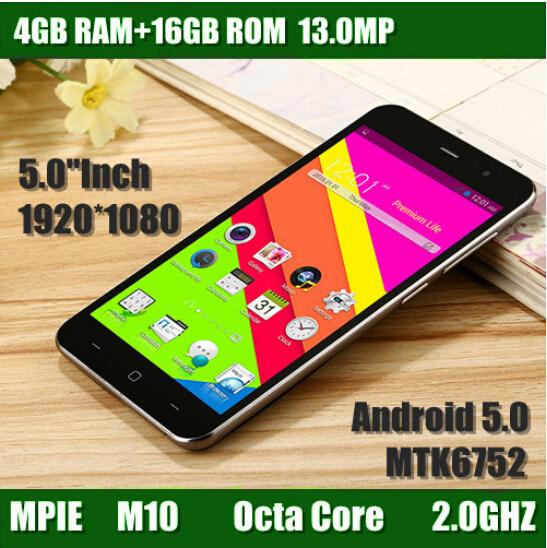 5.0 inch Original Phone Smartphone MTK6752 Octa Core 1080P 4GB RAM 16GB ROM Dual Sim 13.0MP Camera android cell Mobile Phone(China (Mainland))
