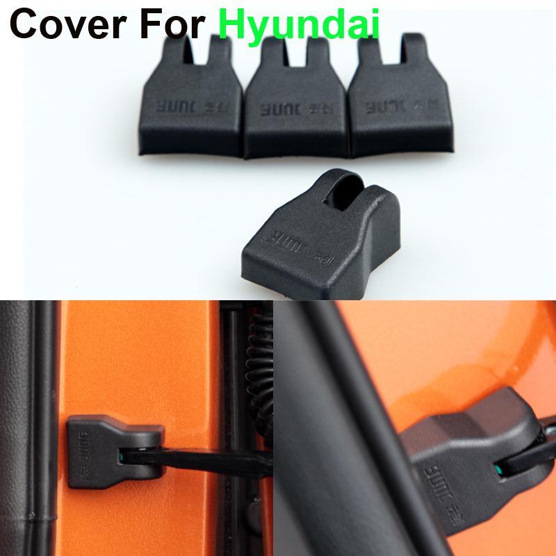 New 4pcs/lot Car styling Door Check Arm Protection Cover For Hyundai SOLARIS Sonata 8 Verna Elantra Best quality(China (Mainland))