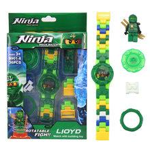 Blocos Relógio de Relógio Do Homem Aranha Vingadores Super Herói Figuras de Construção Brinquedos de Blocos de Tijolos Brinquedos Para As Crianças(China)