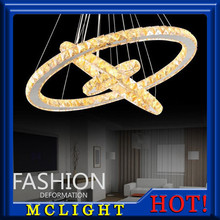 Hot sale Diamond Ring LED Crystal Chandelier Light Modern LED Lighting Circles Lamp 100% Guarantee Fast and Free Shipping(China (Mainland))