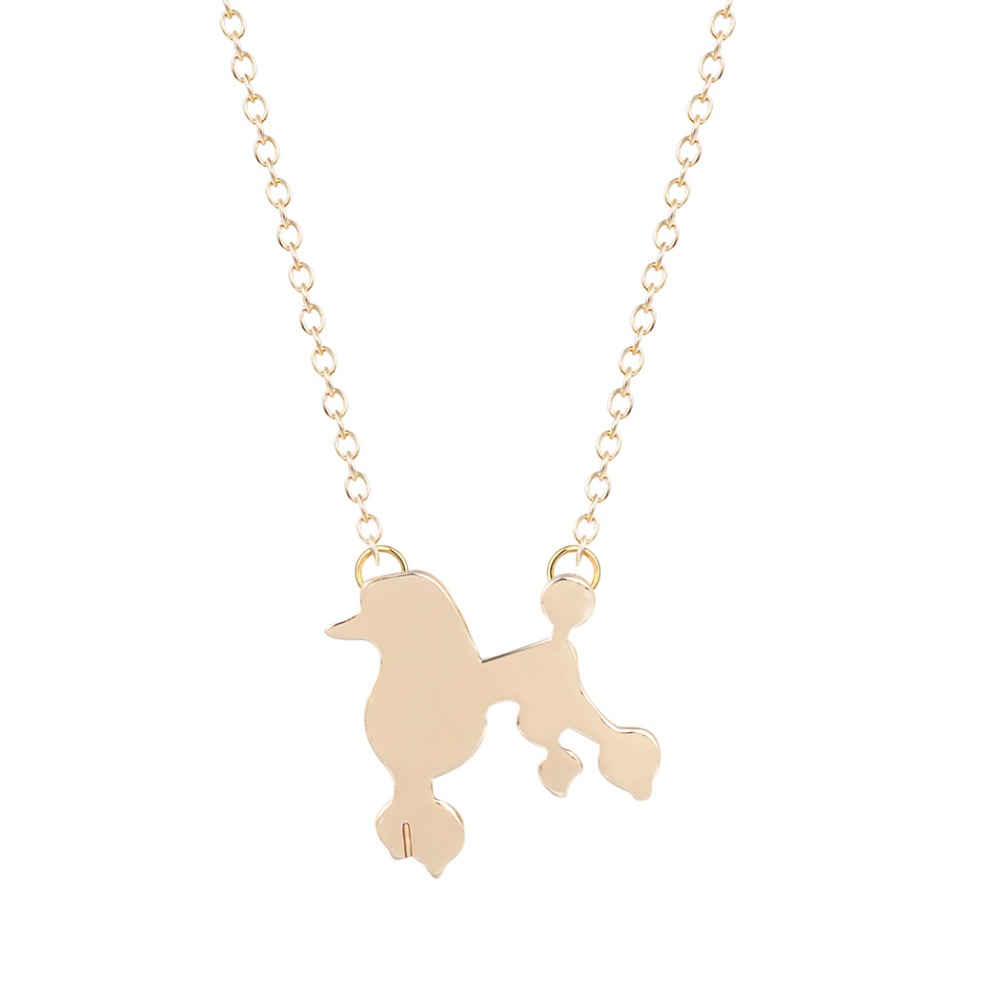 gold silver tiny charm necklace animal pet necklace