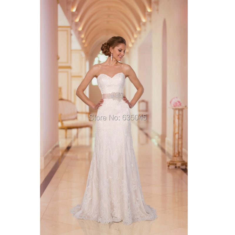Blush Low Back Wedding Dress : Pink bridal gown promotion for promotional