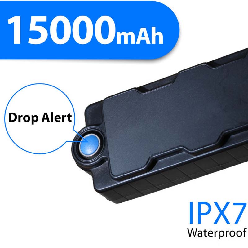15000mAh waterproof IPX67 magnetic gps tracker Car Device On Google Map tracker or mobile phone(China (Mainland))