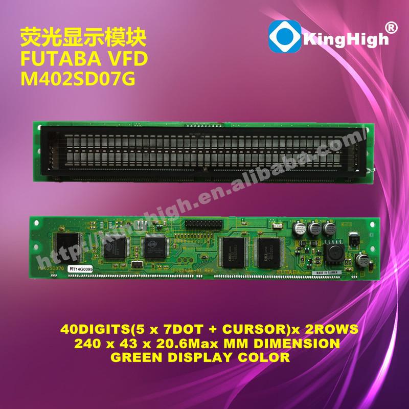 FATABA VFD DISPLAY MODULE 40*2 DIGITS M402SD07G FUTABA VFD MODULE(China (Mainland))