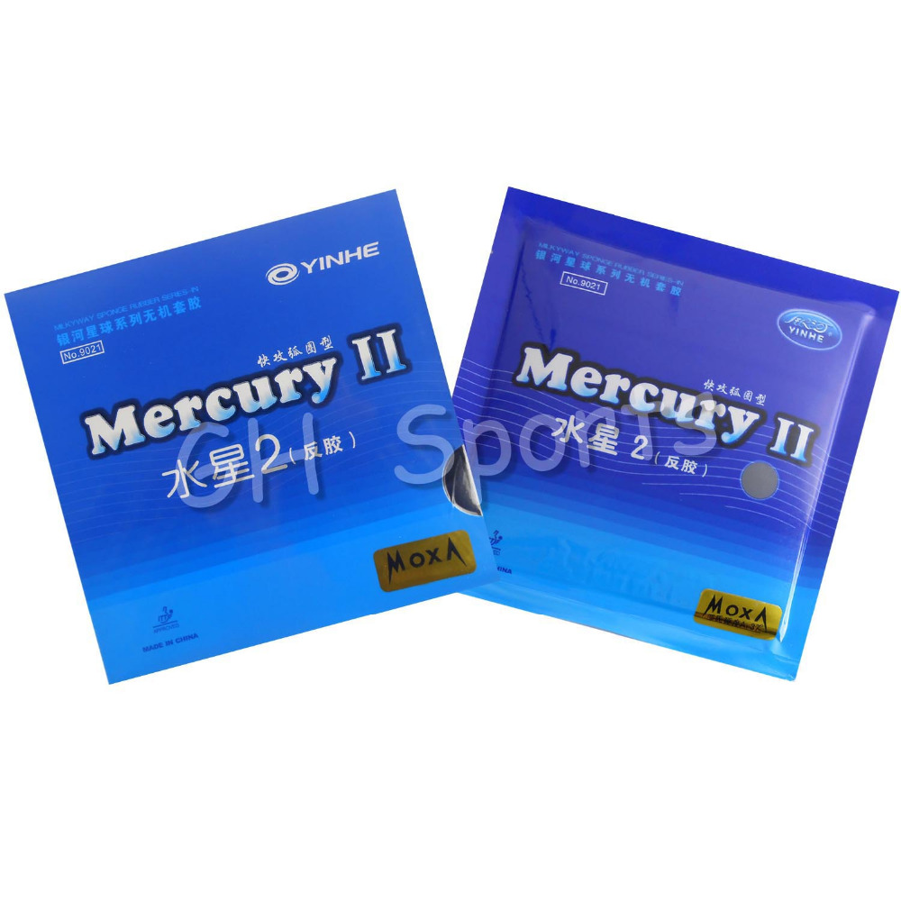 Galaxy / Milky Way / Yinhe Mercury II Pips-In Table Tennis (PingPong) Rubber With Sponge